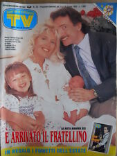 TV Sorrisi e Canzoni n°34 1992 con inserto Fumetto Nick Raider  [D41]