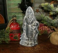 Antique Vtg Style Christmas Belsnickle Santa Claus Silver Resin Chocolate Mold