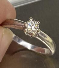 Stunning, 9k White Gold Diamond Solitaire Millennium Ring ~ 2.6g ~ Engagement 💎