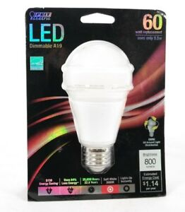 Feit Electric Omni Smooth Body LED Dimmable A19 60w Replacement Bulb, T2
