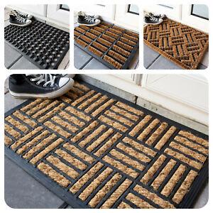 Rubber & Coir Doormats Indoor Outdoor PVC Back Non Slip Home & Garden Mat Cheap