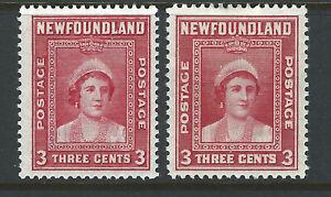 Bigjake: Newfoundland #s 246 & 255,  3 ct. Queen Mother