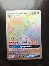 2017 Pokémon Burning Shadows Charizard GX Rainbow Rare 150/147 Ungraded