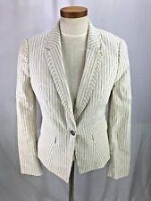 White House Black Market White stripe Blazer 4