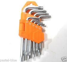 9 PC. TAMPER PROOF SECURITY TORX/STAR  HEX KEY SET