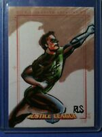Justice League of America Archives color sketch card  Ronald Salas Green Lantern