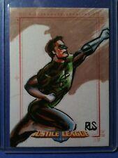 Justice League of America Archives color sketch card  Ronald Salas Green Lantern