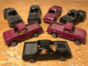 Lot of 7 Vintage Tootsietoy Chevy Step Side S-10 El Camino Pickup Trucks