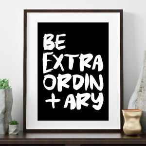 NEW Be Extraordinary print Girl's by Hark Home