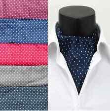 Men's Polka Dots Silk Ties Ascot Cravat Necktie Scarf Handkerchief Gentlemen U33