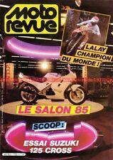 MOTO REVUE 2720 SUZUKI RM 125 G ; HONDA VFR 750 ; ISDE ; Salon de PARIS 1985