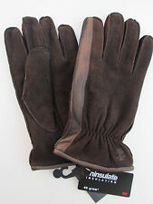 NOS Mens XL IZOD Brown 100% Leather Shell With 40 Gram 3M Thinsulate Lining