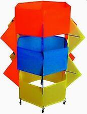 Kompletter Drachen Flugdrachen inkl. 35m-Schnur & Steuergriff orange/blau/gelb
