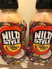 ( 2) Wild Style Creamy Chipotle Kicker Sauce 12oz Bottle Set Of 2 New