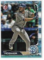 2019 Bowman baseball paper sky blue parallel /499 #86 Eric hosmer San Diego