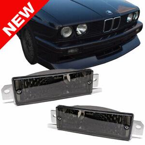 84-91 BMW E30 3-SERIES EURO FRONT BUMPER TURN SIGNAL LIGHTS - SMOKE