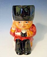 "Vintage Shorter & Son England Small Toby Jug ""Guardsman"" - 4 1/2""H"
