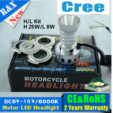 DC6-16V CREE LED 25W Strobe Flash Motorcycle LED Headlight H4 H6 Fog Bulb Lamp