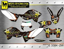 KTM EXC 125 200 250 300 450 530 sticker graphics kit 2008 up to 2011