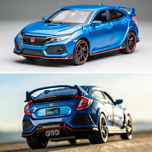1:32 Honda Civic Type R Model Car Diecast Toy Vehicle Collection Kids Gift Blue