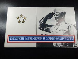 1990 $5 Dwight D. Eisenhower Commemorative Coin Marshall Islands