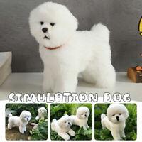 Realistic Simulation Bichon Frise Cute Hairy Dog Toy Doll Animal Model Gift