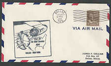 1959 COVER 7c PREXY #812 SOLE AIR MAIL USAGE ON FIRST JET FLIGHT DALLAS SEE INFO