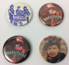 4 x motorhead rock badges - vintage joblot - heavy metal - lemmy