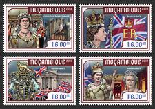 Mozambique 2018 Queen Elizabeth II Coronation 65th Aniv 4v Set MOZ18228a
