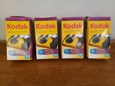 Lot of (4) Kodak Power Flash Disposable Cameras 39 Exposures