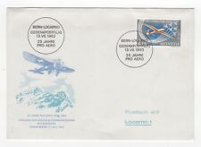1963 SWITZERLAND First Day Cover 25th ANNIVERSARY AIRMAIL Bern to Locarno
