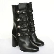 ISABEL MARANT $1,335 black Brandebourg Arnie high heel military boots 35 NEW