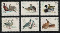 GDR Pheasants Partridges Mallard Geese Hare Birds Small Game 6v 1968 MNH