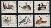 GDR Pheasants Partridges Mallard Geese Hare Birds Small Game 6v 1968 MNH