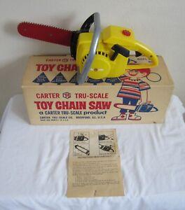 VINTAGE CARTER TRU SCALE TS TOY CHAINSAW W BOX ROCKFORD IL CHAIN SAW MODEL 903