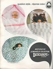 ▬► PUBLICITE ADVERTISING AD Drap COTON DESCAMPS L'ainé sont Blangil 1967 2 pages