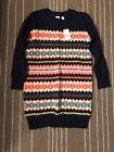 NWT Gap Kids girls wool blend fair isle Navy Blue sweater Dress Sz S