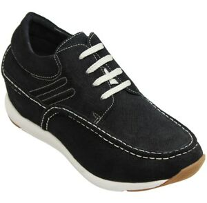 CALTO H4905 - 2.8 Inches Height Increase Elevator Lightweight Moc Toe Casuals