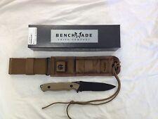 NEW Benchmade 140SBKSN Nimravus Fixed Blade Black 154CM Blade Coyote Handles