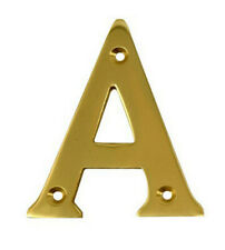 2'' Gold Anodised Letter A