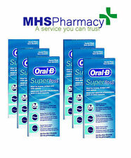 6x Oral B Superfloss Super Dental Floss Braces Bridges