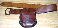 Vintage Antique Primitive Old West Era Military Bullet Pouch and Belt