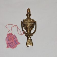 1940's BELLS Of SARNA Brass DOOR KNOCKER BELL India NUMBERED w TAG Antique VTG