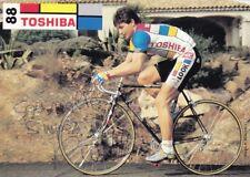 CYCLISME carte cycliste PIERANGELO BINCOLETTO équipe TOSHIBA 1991 signée