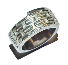Sterling Silver Patterned Band Ring by FOSSIL - UK Size: M (WAS £70)