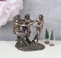 Skulptur Muse Nymphe Faun Antike Mythologie Figur Statue Frauenakt Frauenfigur