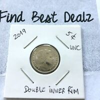🔥ERROR COIN🇦🇺2019 5 Cent 5c Coin Double Inner Rim Double Ring RARE📮FREE POST