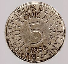5 DM Silberadler/Heiermann 1956 J in fvz. (fast vorzüglich)