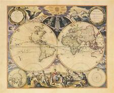 New World Map ,1676 - Goos Landkarte Kunstdruck Poster Plakat Bild