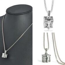 Metal Urn Cremation Pendant Necklace Memorial Ash Holder Mini Keepsake Jewelry